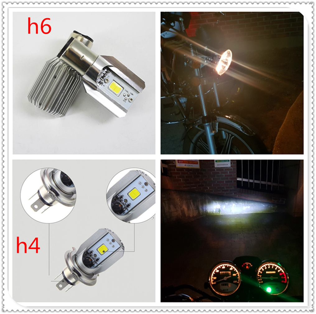 <font><b>Led</b></font> Motorcycle <font><b>Headlight</b></font> motorbike lamp Bulb H6 h4 6000k Light ATV for Kawasaki <font><b>NINJA</b></font> <font><b>300</b></font> 250R ZX636R ZX6RR 400R image