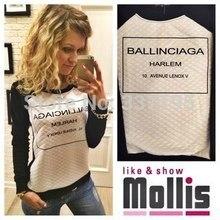 new cotton ballinciaga harlem woman's fashion sweatshirt 3d printed sweatshirt sportswear tracksuit for women long-sleeve
