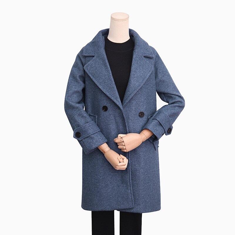 Femmes La Simple Femelle 2019 Femme Casaco Plus Survêtement Pardessus Maxi Automne Robe Feminino bleu Hiver marron Cassic Laine Manteau rose Taille Longcoat Beige gEwEIzqxA