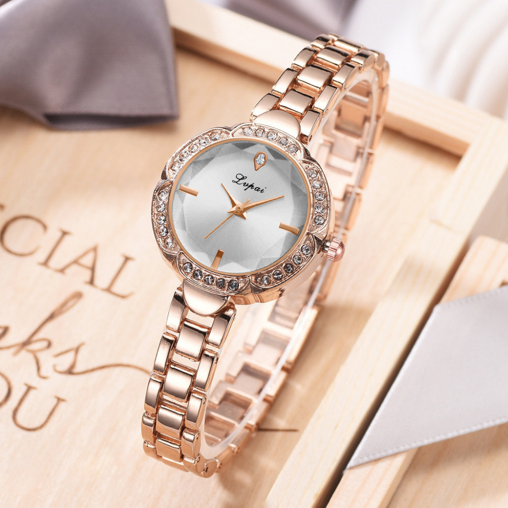 Lvpai New Fashion Ladies Watches Diamond Stainless Steel Bracelet Small Dial Clock Quartz Wrist Women's Watches Reloj Hombre B30