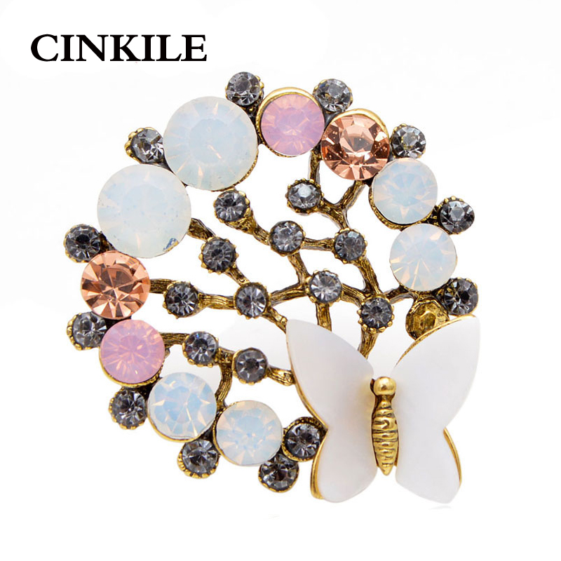 CINKILE Vintage Tree Brooches For Women 2019 Sweaters Scarf Pearl Rhinestone Female Pins Brooch Plant Jewelry Dropshipping in Brooches from Jewelry Accessories