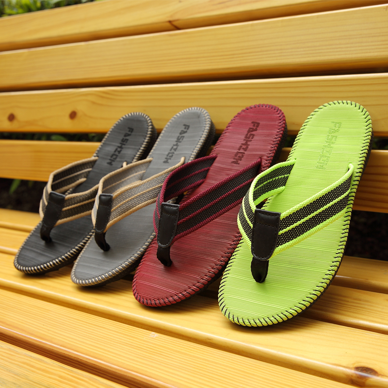 65bb2ffe40c6 Summer Fashion Women Men Flip Flops Cane Beach Sandals Flat Lovers Shoes  Slippers Non Slip High Quality Casual Comfortable-in Flip Flops from Shoes  on ...