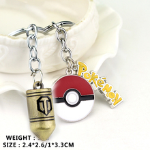 Russian War of Tanks Bullet With Pokemon Plus Pokeball Keychain