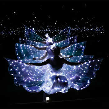 LED luminous wings Ballet Costume Fluorescent butterfly dance Cloak Dance Costume Belly Dance cloak prop Children's wings dress - DISCOUNT ITEM  8% OFF All Category