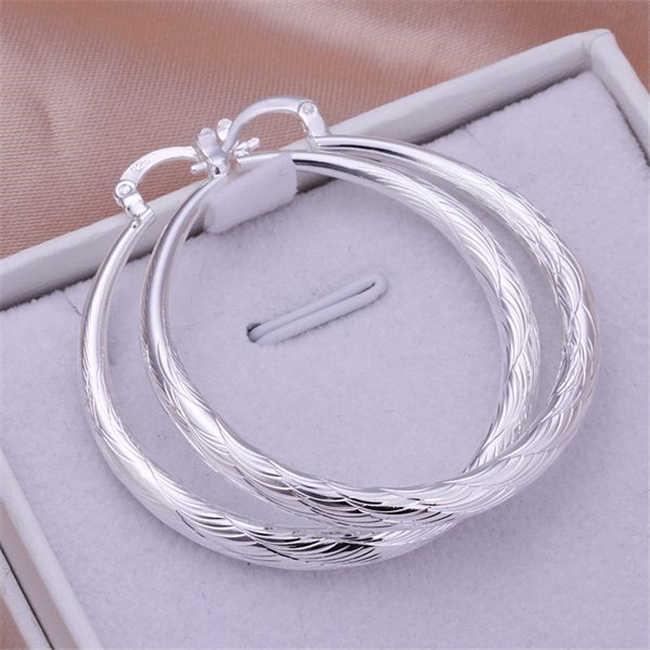 925 Jewelry Silver Plated Wholesale Free Shipping Earrings for women /akmajbta akmajbta LQ-E292