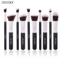 Docolor Hot 10Pcs Pro Makeup Blending Blush Set Cosmetic Make Up Brushes Tool Black Soft Nylon