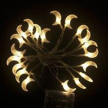3 м/20 светодиодный Батарея RGB Луны светодиодный свет шнура Рождественские огни для отдыха и вечеринок Свадебные украшения Фея Света домашний сад декор