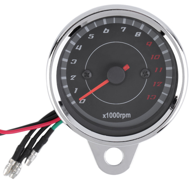 Hot Universal Motorcycle Motorbike Backlight LED 12V Tachometer Speedometer Tacho Gauge High quality New Dropping Shipping