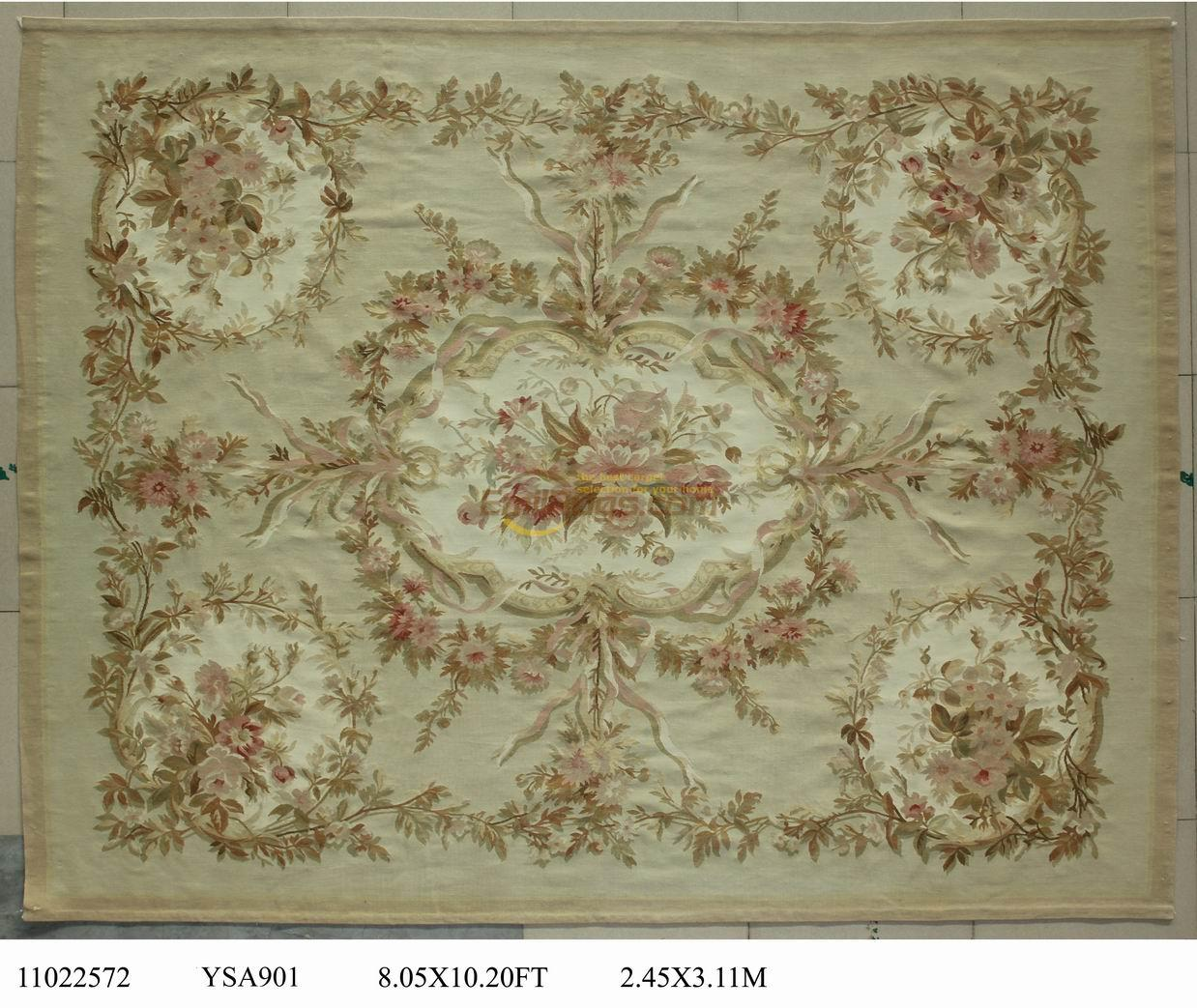 Tapis traditionnel Aubusson Style français tapis ancien Aubusson laine française Antique 19th siècle tapis Aubusson