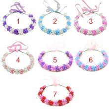 7 Colors Korean Style Women Girls Romantic Wreath Headband Photo Props Artificial Lavender Babys Breath Flower Crown Headpiece