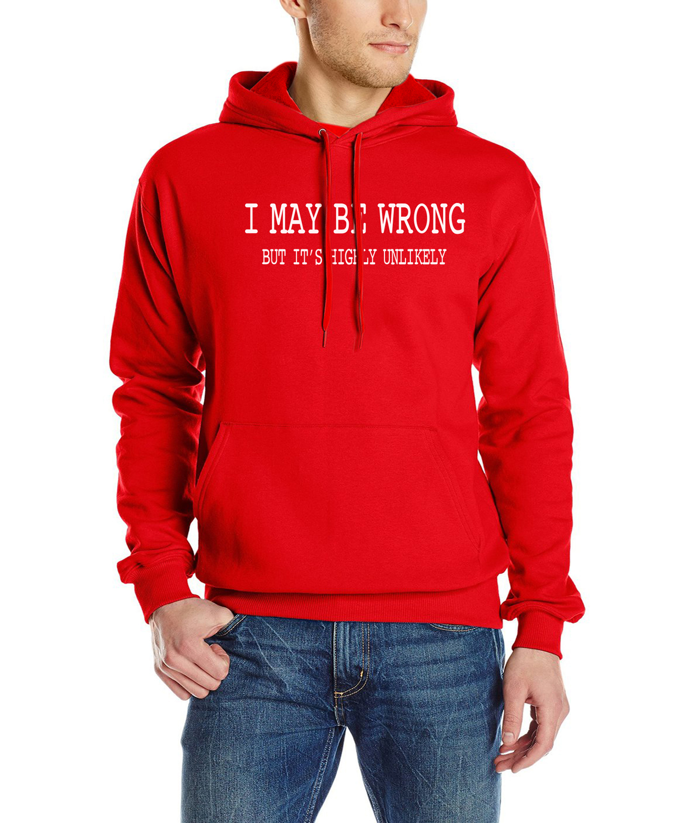 d2670664d رجل مضحك أقوال الشعارات مقنعين قد أكون خاطئ البلوز 2019 الخريف الشتاء قميص  قطني بكم طويل العلامة التجارية ملابس رياضية الرجال