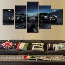 Modern Home Wall Art Decorative Frameeork HD Printed Spacious Urban Roads Painting Artworks 5 Pieces Car Poster Canvas Pictures