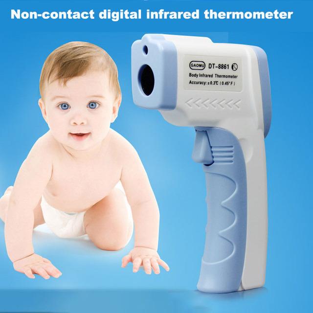 Electrónica LCD Niños Digitales Sin Contacto Del Termómetro Infrarrojo Del Bebé Médica Frente Fiebre termometro infravermelho digital
