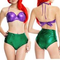 2017 Bikini Set Mermaid Swimsuit Underwire Push Up High Waist Bikini Set Sexy Women Swimwear Cosplay