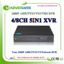 4ch 8ch Full HD 1080P AHD-H AHD-M AHD TVI DVR AVR TVR CCTV Camera Analog Video Recorder Recording