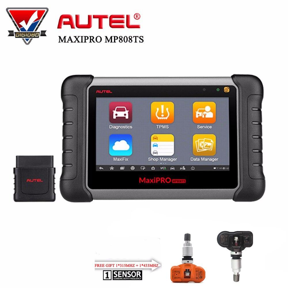 Autel MaxiPRO MP808TS автомобильный диагностический инструмент WI-FI Bluetooth OBD2 сканер профессиональные полное TPMS Услуги + Бесплатный подарок