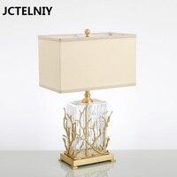 Мода медный лампа краткое спальня ночники персонализированные стекло лампы