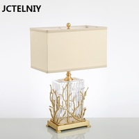 Fashion copper lamp brief bedroom bedside lamp personalized glass lamp