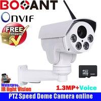 Outdoor P2P ptz camera IP WiFi camera Medium Speed Bullet Camera 1.3MP 4x Auto zoom IR 50m ip cctv camer with Voice