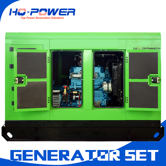 US $6438 0 |hot selling small natural gas turbine power generator 40kva  with silent canopy-in Diesel Generators from Home Improvement on