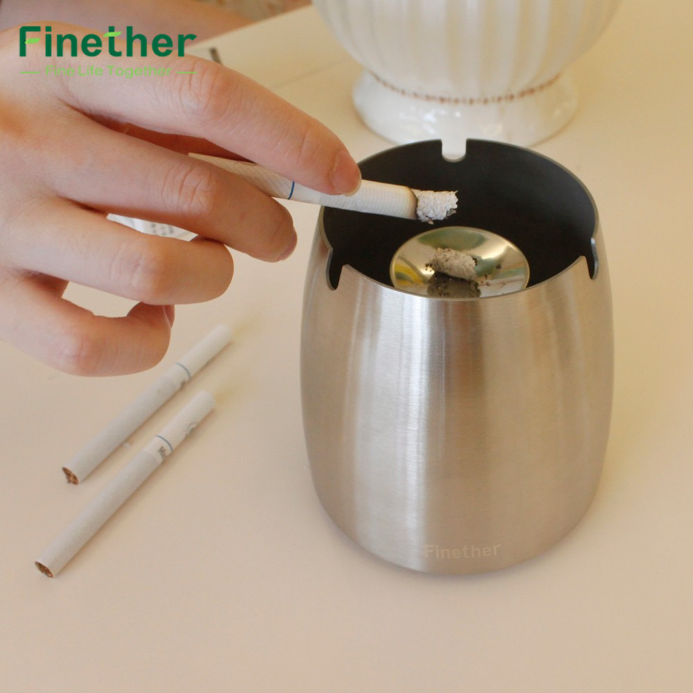 "aliexpress : buy finether 3""/4"" silver ash tray stainless"