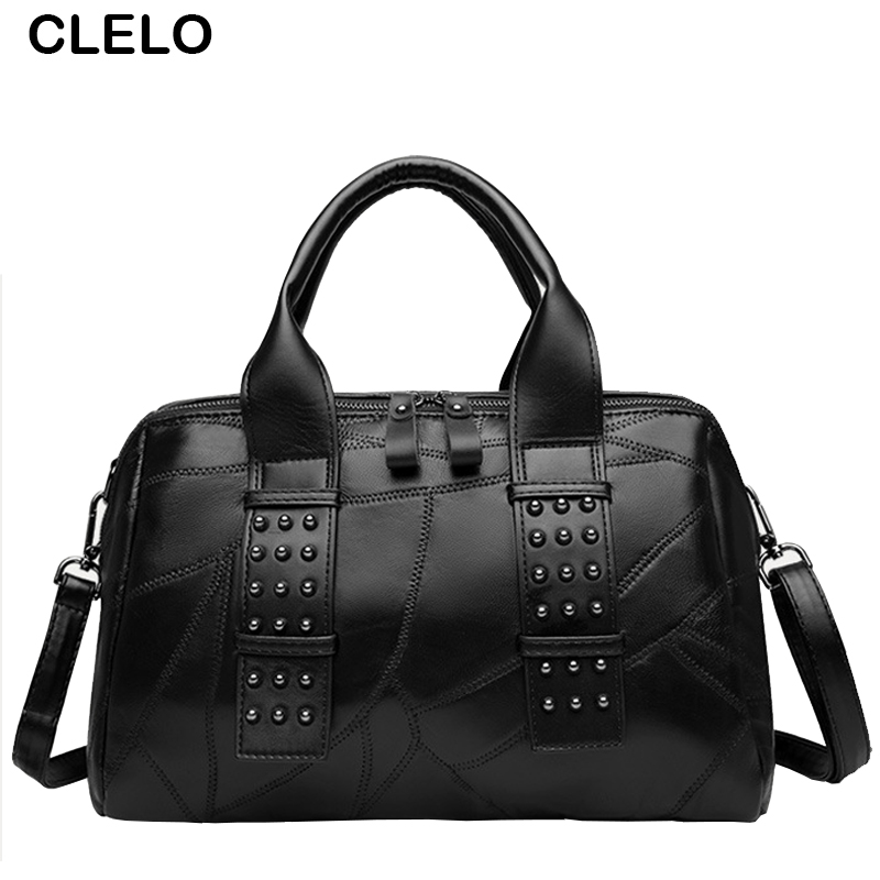 ФОТО CLELO Women Handbag Bag Designer Handbags Famous Brand PU Tote Shoulder Ladies casual Bag bolsa feminina