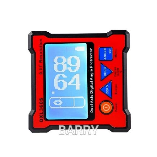 Высокоточный DXL360S двойная ось цифровая угломер Двухосевой цифровой Дисплей датчик уровня с 5 боковой магнитной базой