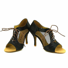 YOVE Dance Shoes Women's Latin/ Salsa Dance Shoes 3.5″ Slim High Heel More Color w1610-37
