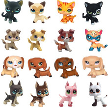 лучшая цена Rare Pet Shop Lps Toys Standing Little Short Hair Cat Pink #2291 grey #5 Black #994 old Original Pet Toys Kitten Free Shipping