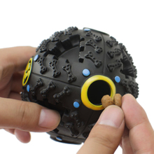 3 Size S/M/L Black Dogs Toys Funny Squeaky Leakage Food Balls Pet Cats Puppy Chew Training Supplies