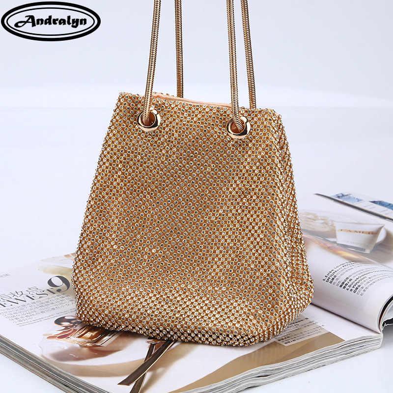 Andralyn Fashion Diamond Evening Bag High-end Banquet Clutch Bag 2018 New  Chain Small Shoulder 19f7b97b8a5e