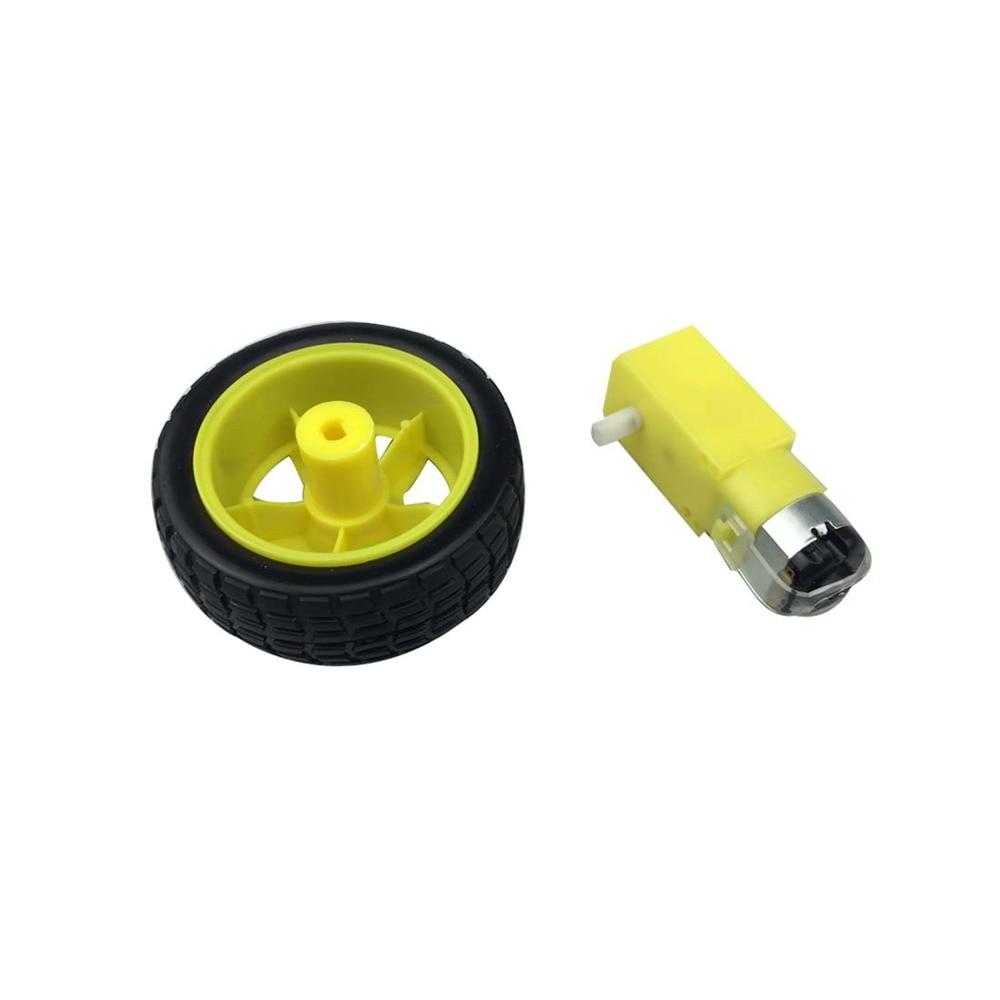 Smart Car Robot Tire Tyre Wheel DC Gear Motor Remote Control Accessories DIY w 1 48