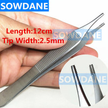 Dental Tweezer Round Tip Straight 12cm Oral Care Tool Tissue