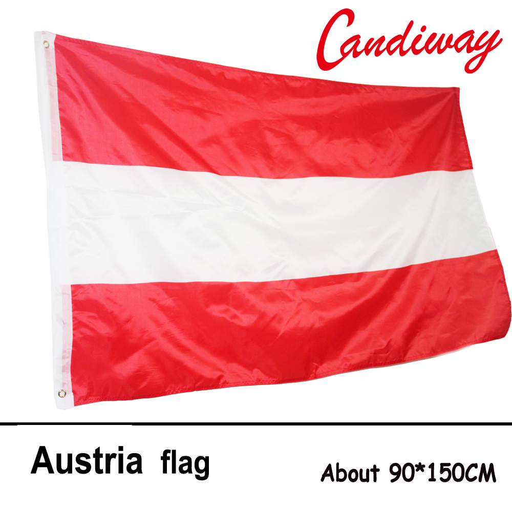 10pcs lot national flag country flag stick flags flag of the united - 90 X 150cm The Austrian National Flag Hundred Percent Polyester Printed Austria Flags And Banners Banner
