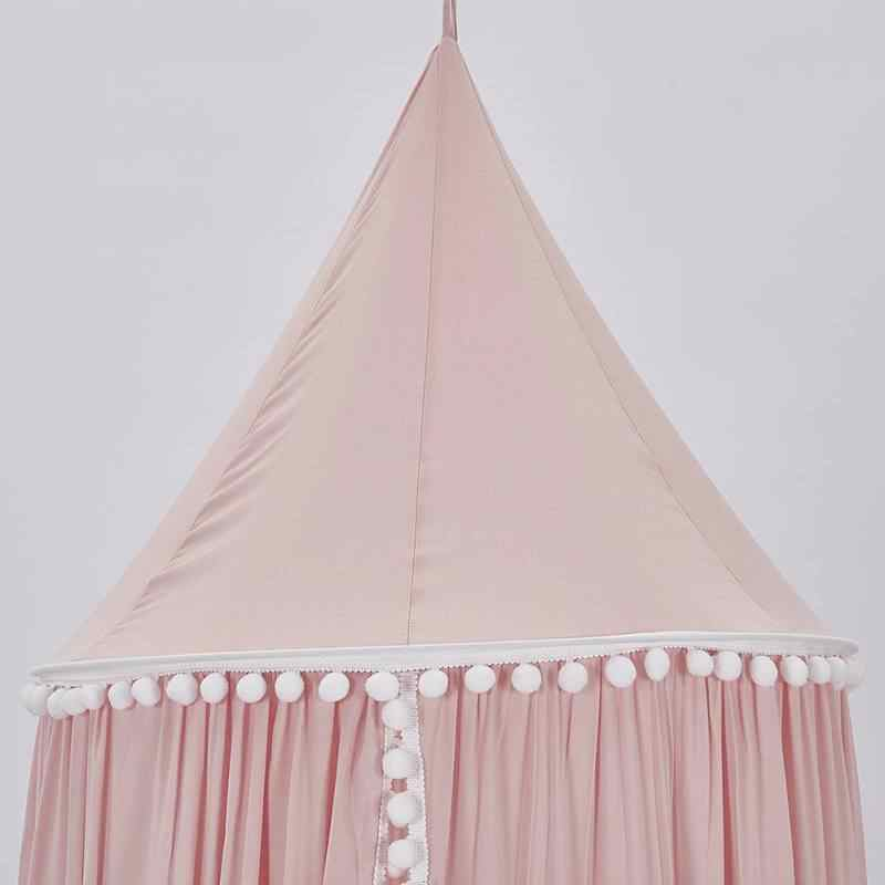 Newborn Baby Crib Netting Bed Curtain Cotton Children Room Decoration Baby Cotton Hung Dome Baby Mosquito Net Photography Props