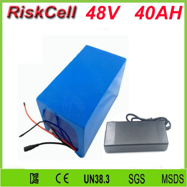 Free Customs taxes shipping High Capacity 48V 40ah Rechargeable Lithium Ion Battery Pack  with 50A discharge rate current  BMS free customs taxes rechargeable lithium battery 48v 12ah lithium ion battery 48v 12ah li ion battery pack 2a charger 20a bms