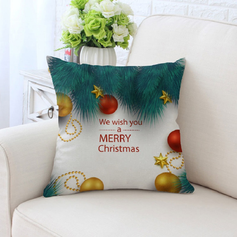 BZ163 Christmas Series Pillowcase Pillow Cover Machine Washable Home Textile 45cm*45cm/18x18 Inch