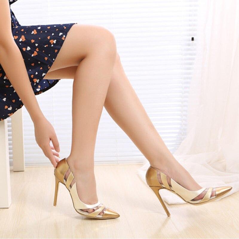 Women Pumps High Heels Shoes Pointed Toe PVC Transparent Royal Blue Dress Shoes Woman Spring Autumn Party Shoes Ladies Plus Size Islamabad