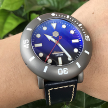 סן מרטין גברים אוטומטי שעון טיטניום מקרה Diver שעון 2000m מים עמיד זוהר לוח מהדורה מוגבלת אופנה שעוני יד