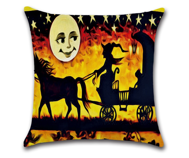 Image 4 - CAMMITEVER Halloween Black Cat Moonnight Cover Decorative Throw Pillow Sofa Home Decor Decorativos Coussin Almofada Cojines-in Cushion Cover from Home & Garden