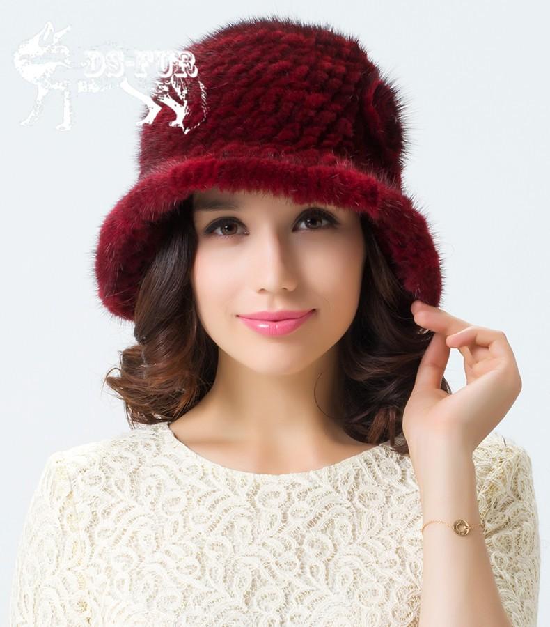 Weave real mink fur hat04