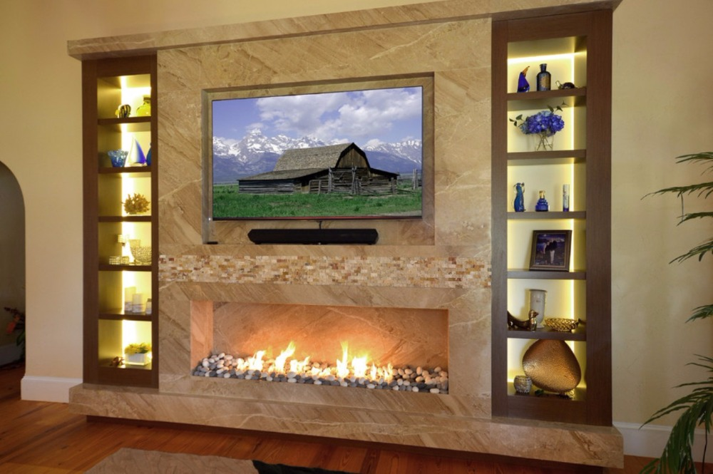 On Sale Bio Ethanol Burner  1.5M 60 Inch Black/silver Smart Control Wall Fireplace