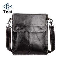 Men Shoulder Bag Genuine Leather Classic Brand Bag Vintage Men Messenger Fashion Crossbody Bags For Male Bags Retro