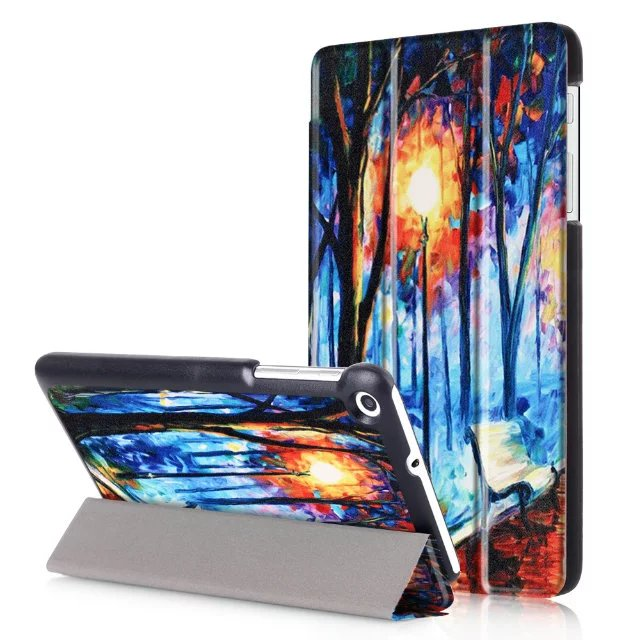 Case For Huawei Mediapad T2 7.0 Tablet PC Ultra Slim Stand Leather Case For Huawei Mediapad T1 7.0 + Free 3 Gifts
