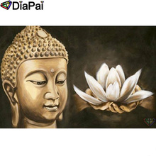 DIAPAI Diamond Painting 5D DIY 100% Full Square/Round Drill Buddha flower hand Diamond Embroidery Cross Stitch 3D Decor A24526 diapai 5d diy diamond painting 100% full square round drill text moon buddha diamond embroidery cross stitch 3d decor a21533