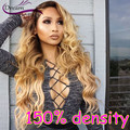 8A Full Lace Human Hair Wigs For Black Women 150% Blonde Ombre Lace Front Human Hair Wigs Peruvian Body Wave Front Lace Wig