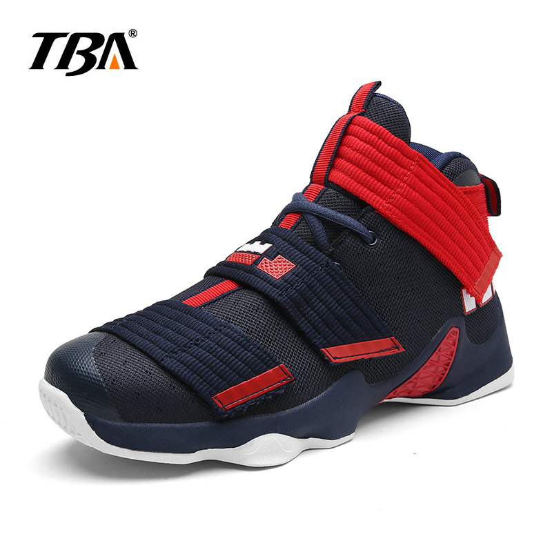 2017 TBA Summer Professional basketball shoes for Men Hook and loop sneakers Add blue or yellow Replaceable insoles  size 37-45
