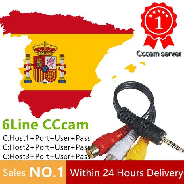 HD Cccams Cline para 1 año Europa Free Satellite Ccam Account 1080 p Sever Italia/España/POLONIA/Alemania IKS Europa 1 año TV Cable