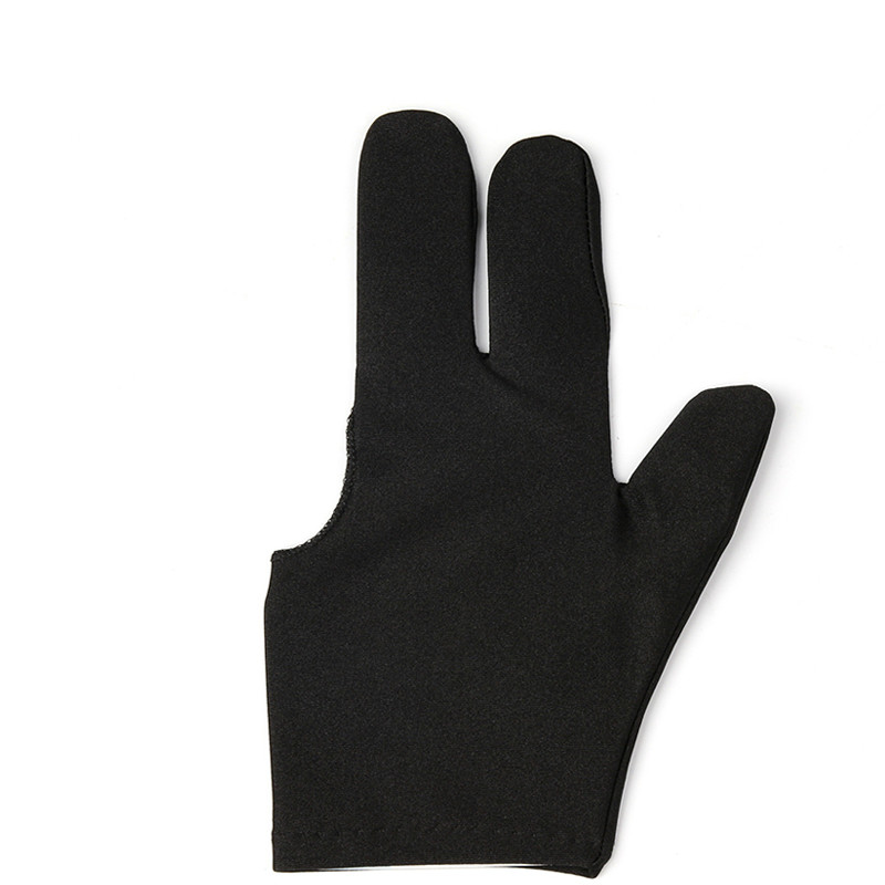 High Quality Spandex Snooker Billiard Cue Glove Pool Left Right Hand Open Three Finger Accessory For Unisex Women And Men Black