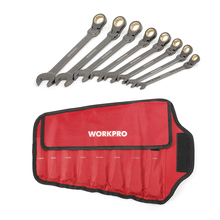 WORKPRO 8PC Wrench Set CRV Ratchet Spanner Double End Wrenches